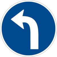 Dopravní značka: C 2c Přikázaný směr jízdy vlevo