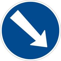 Dopravní značka: C 4a Přikázaný směr objíždění vpravo