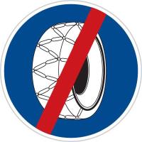 Dopravní značka: C 5b Sněhové řetězy – konec
