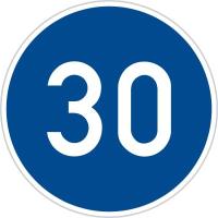 Dopravní značka: C 6a Nejnižší dovolená rychlost