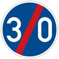 Dopravní značka: C 6b Konec nejnižší dovolené rychlosti