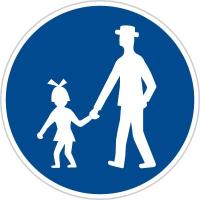 Dopravní značka: C 7a Stezka pro chodce