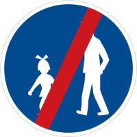 Dopravní značka: C 7b Konec stezky pro chodce