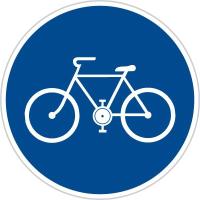 Dopravní značka: C 8a Stezka pro cyklisty