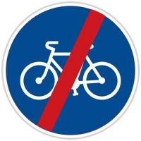 Dopravní značka: C 8b Konec stezky pro cyklisty