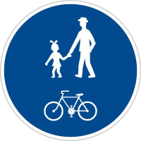 Dopravní značka: C 9a Stezka pro chodce a cyklisty společná