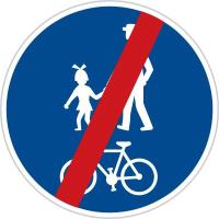 Dopravní značka: C 9b Konec stezky pro chodce a cyklisty společné