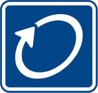 Dopravní značka: IP 1 Okruh