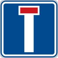 Dopravní značka: IP 10a Slepá pozemní komunikace