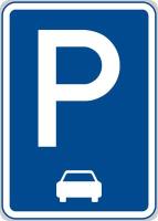 Dopravní značka: IP 11c Parkoviště (podélné stání)