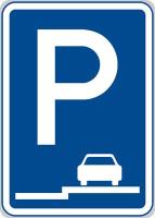 Dopravní značka: IP 11e Parkoviště (stání na chodníku podélné)