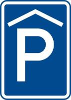 Dopravní značka: IP 13a Kryté parkoviště