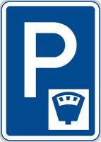 Dopravní značka: IP 13c Parkoviště s parkovacím automatem