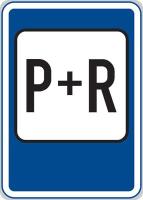 Dopravní značka: IP 13d Parkoviště P + R