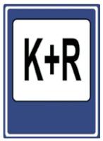 Dopravní značka: IP 13e Parkoviště K + R
