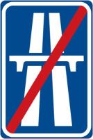 Dopravní značka: IP 14b Konec dálnice
