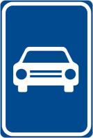 Dopravní značka: IP 15a Silnice pro motorová vozidla
