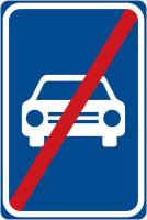 Dopravní značka: IP 15b Konec silnice pro motorová vozidla