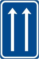 Dopravní značka: IP 16 Uspořádání jízdních pruhů