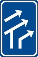 Dopravní značka: IP 17 Uspořádání jízdních pruhů