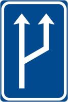 Dopravní značka: IP 18a Zvýšení počtu jízdních pruhů