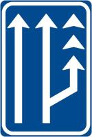 Dopravní značka: IP 18c Jízdní pruh pro pomalá vozidla