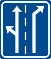 Dopravní značka: IP 19 Řadicí pruhy