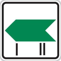 Dopravní značka: IP 1b Změna směru okruhu