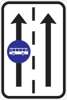 Dopravní značka: IP 20a Vyhrazený jízdní pruh