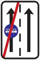 Dopravní značka: IP 20b Konec vyhrazeného jízdního pruhu