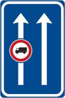 Dopravní značka: IP 21 Omezení v jízdním pruhu