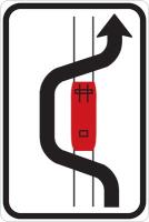 Dopravní značka: IP 23a Objíždění tramvaje