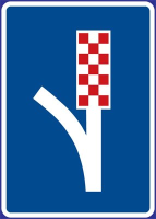 Dopravní značka: IP 24 Únikový pruh