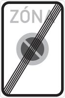 Dopravní značka: IP 25b Konec zóny s dopravním omezením