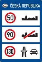 Dopravní značka: IP 28b Nejvyšší dovolené rychlosti