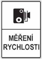Dopravní značka: IP 31a Měření rychlosti