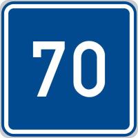 Dopravní značka: IP 5 Doporučená rychlost