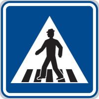 Dopravní značka: IP 6 Přechod pro chodce