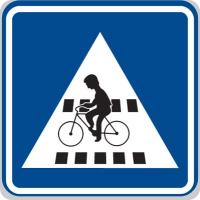 Dopravní značka: IP 7 Přejezd pro cyklisty