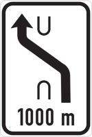 Dopravní značka: IS 10a Návěst změny směru jízdy