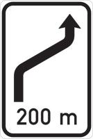 Dopravní značka: IS 10b Návěst změny směru jízdy
