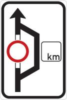 Dopravní značka: IS 11a Návěst před objížďkou