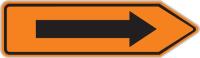 Dopravní značka: IS 11c Směrová tabule pro vyznačení objížďky