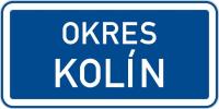 Dopravní značka: IS 14 Hranice územního celku
