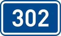 Dopravní značka: IS 16d Číslo silnice (Silnice II. třídy)