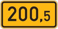 Dopravní značka: IS 18a Kilometrovník