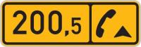 Dopravní značka: IS 18b Kilometrovník