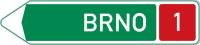 Dopravní značka: IS 1c Směrová tabule pro příjezd k dálnici (s jedním cílem)