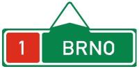 Dopravní značka: IS 1d Směrová tabule před nájezdem na dálnici (přímo)