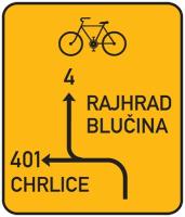 Dopravní značka: IS 20 Návěst před křižovatkou pro cyklisty